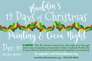 Painting & Cocoa Night @ Mauldin Cultural Center | Mauldin | South Carolina | United States