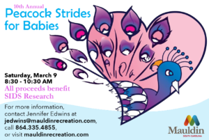 Peacock STRIDES for Babies 5K @ Mauldin Cultural Center | Mauldin | South Carolina | United States