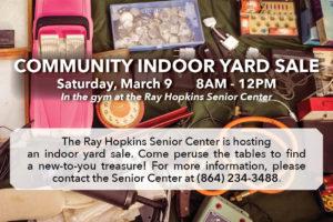 Indoor Yard Sale @ Ray Hopkins Senior Center | Greenville | South Carolina | United States