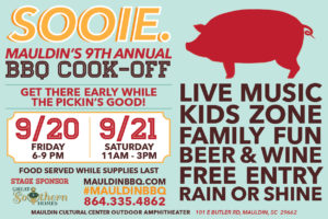 SOOIE., Mauldin BBQ Cook-off @ Mauldin Cultural Center | Mauldin | South Carolina | United States