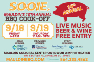 SOOIE., Mauldin BBQ Cook-off | Anything Butt Competition @ Mauldin Cultural Center | Mauldin | South Carolina | United States
