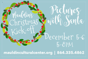 Pictures with Santa @ Mauldin Cultural Center | Mauldin | South Carolina | United States