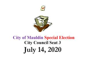 Special Election for the City of Mauldin @ City Hall | Mauldin | South Carolina | United States