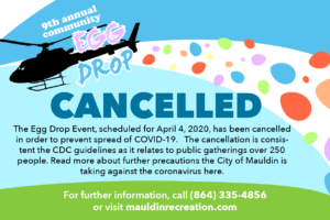 Community Egg Drop (CANCELLED) @ Sunset Park | Greenville | South Carolina | United States