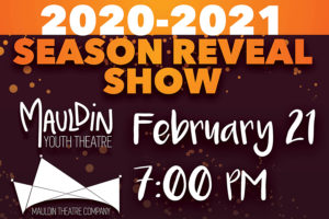 Theatre Season Reveal Show @ Mauldin Cultural Center | Mauldin | South Carolina | United States