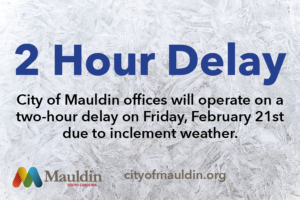 2-Hour Delay for City Offices