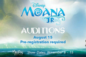 Moana, JR. Auditions @ Mauldin Cultural Center | Mauldin | South Carolina | United States