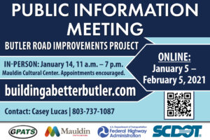 Public Information Meeting: Butler Road Improvements Project @ Mauldin Cultural Center | Mauldin | South Carolina | United States