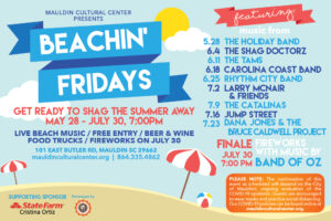 Beachin' Fridays @ Mauldin Cultural Center Outdoor Amphitheater | Mauldin | South Carolina | United States